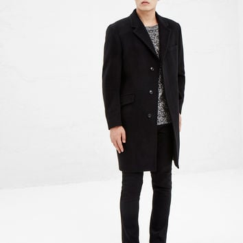 Totokaelo - Our Legacy Soft Black Classic Coat - $709.00