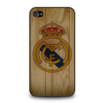 REAL MADRID FC WOODEN iPhone 4 / 4S Case Cover