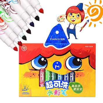 Kids Art Marker Watercolor Sketch Pen Set Animation Copic Non-Toxic Markers For School Colored Brush Drawing Design Supplies