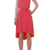 Racerback Hi-Lo Dress - Sleeveless Tank Dress - Humblechic.com