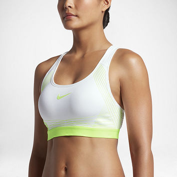 The Nike Hyper Classic Padded Women's Medium Support Sports Bra.