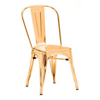 Elio Dining Chair Gold Steel