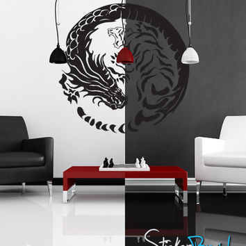 Vinyl Wall Decal Sticker Yin Yang Dragons #GFoster120