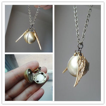 THE GOLDEN SNITCH A Harry Potter Inspired Locket by CeciliaJewelry