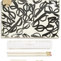 kate spade new york 'retro specs' pencil pouch set