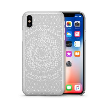 Steph Okits X Milkyway Cases Fleur Mandala - Clear TPU Case Cover Phone Case