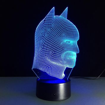Batman Dark Knight gift Christmas Cool Christmas Gifts  Batman vs Superman 3D Acrylic LED Night Light Touch Switch Desk Table Lamp GX319 AT_71_6