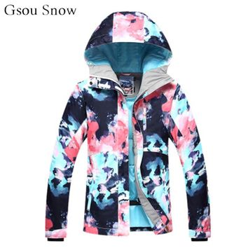 Ski Jacket women Snowboarding Jackets Waterproof Windproof super warm snow veste ski femme woman winter coats and jackets 2018