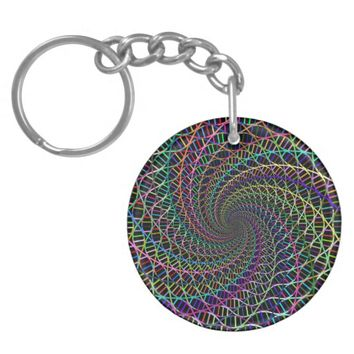 Prismatic DNA Helix Vortex Keychain