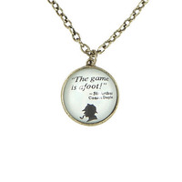 Sherlock Quote Pendant Necklace