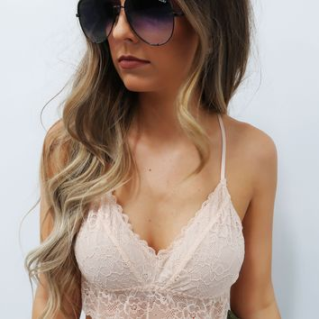 Restock: Make My Way Bralette: Nude