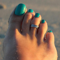 Retro Toe Ring Old Silver Gift