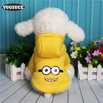 VUGSUCE Cute Cartoon Dog Hoodies Clothing Soft Warm Coat Jacket Sweatshirts Dog Clothes for Small Dogs Pet Products