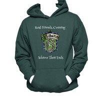 Slytherin Crest, Harry Potter Hanes Unisex Hooded Sweatshirt, Slytherin Hoodie