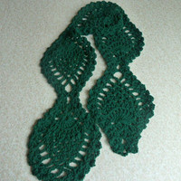 Green Crochet Scarf - Lightweight Accessory for Spring St. Patrick's Day Kelly Green
