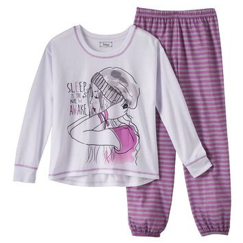 Disney D-Signed KC Undercover ''Sleep is the New Awake'' Pajama Set - Girls