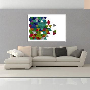 Mid Century Wall art print canvas, Colorful modern canvas art, colorful wall art print, Geometric Wall art, canvas abstract wall art No.729