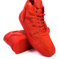 Filling Pieces Mid Top Transformed Pyramid Red Sneaker