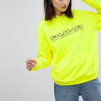 Puma Exclusive To ASOS Sweatshirt In Neon Yellow With Logo at asos.com
