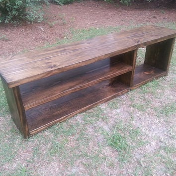 Rustic Entryway Bench - Boot Bench With Shoe Rack And Boot Storage - Cubby Bench - Entryway Shoe Organizer
