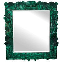 Exceptional Mirror with Polished Malachite Frame