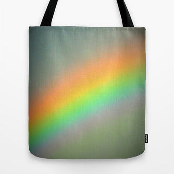 Colorful Tote Bag, Vintage Rainbow Bag,  Canvas Tote, Large Tote, Market Tote, Book Bag, Sturdy Tote Bag, Vintage Bag, Gray Bag,