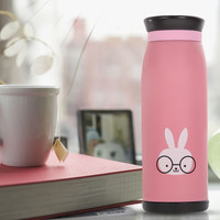 500ml Thermos Mug Insulated Tumbler Travel Cups Stainless Steel Vacuum Cup thermos,tea termos,coffee flask  PINK Color