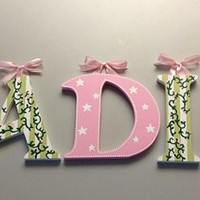 GLENN JEAN ISABELLA INSPIRED HAND PAINTED WOOD WALL LETTERS