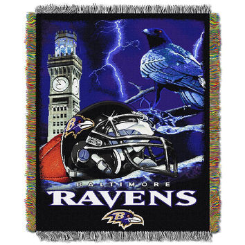 Baltimore Ravens NFL Woven Tapestry Throw (Home Field Advantage) (48x60)
