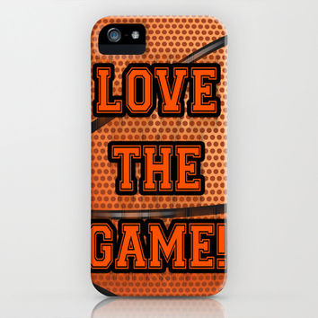 Basketball Love The Game iPhone & iPod Case by LGD.