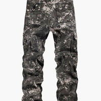 Gray Camouflage Six Pockets Pants