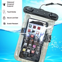 HITORHIKE 5.5 inch Waterproof Bag Mobile Phone Pouch Underwater Dry Case Cover For Canoe Kayak Rafting Swimming Drifting