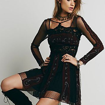 Free People Womens Tough Love Fit and Flare