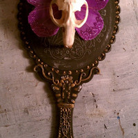 Mirror of Vanity Taxidermy Gothic/ Hand mirror