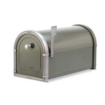 Architectural Mailboxes 5504Z Coronado Bronze Mailbox with Antique Nickel Accents