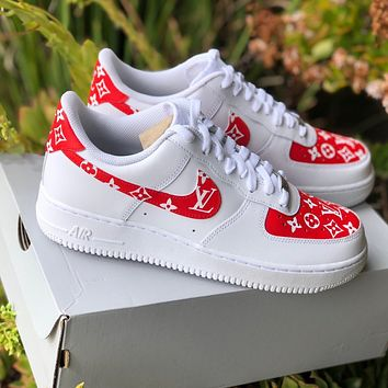 "Air Force 1 ""Supreme Louis Vuitton"" (with front and back tab) Customs"