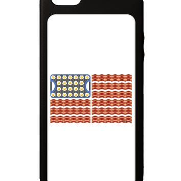 American Breakfast Flag - Bacon and Eggs iPhone 5C Grip Case  by TooLoud
