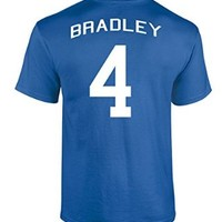 Jacted Up Tees Michael Bradley US National Soccer Team Front and Back Men's T-Shirt - Small Red (927)
