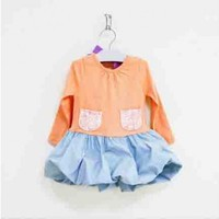 Vintage Inspired Girls Clothes Orange Vintage Inspired Dress For Girls | Vindie Baby