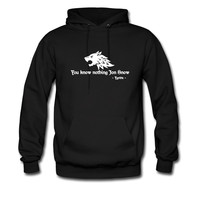 You know nothing Jon Snow (Game of Thrones) hoodie sweatshirt tshirt