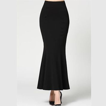 Skirt Long Women Sexy Fishtail ankle-Length Vintage trumpet sexy skirts