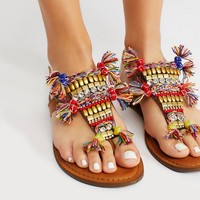Free People Vegan Tulum Embellished Sandal