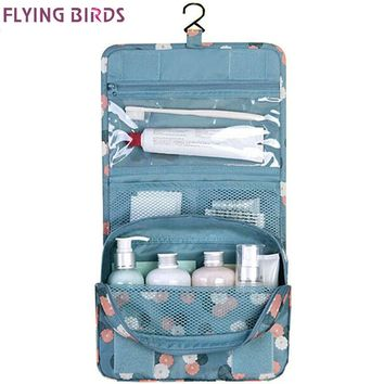FLYING BIRDS! wash bag Women Cosmetic Bags Multifunction Makeup portable Bag toiletry kits waterproof Travel Bags Lady LS8904fb