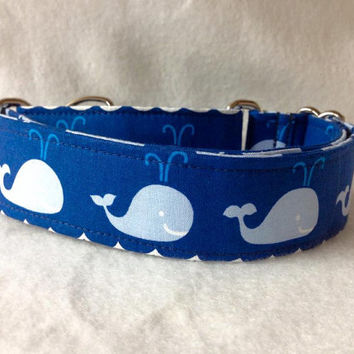 """True Blue Rowing Blue Martingale or Quick Release Collar 1"""" Martingale Collar, 1.5"""" Martingale Collar"""