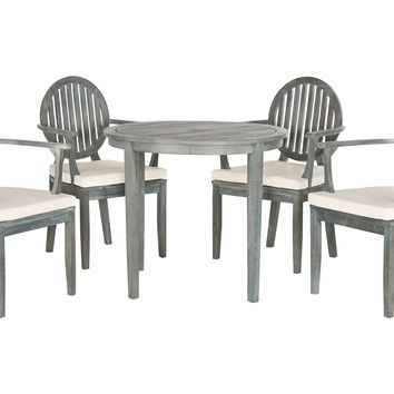 Charles 5-Piece Dining Set, Gray, Outdoor Dining Sets