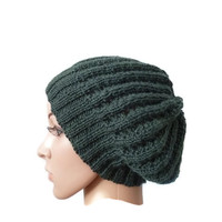 Lacy Slouchy Hat - Green