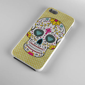 DS272-iPhone Case - Iphone 5 case-Iphone 5s case - Iphone 4 case - Iphone 4s case - Iphone Cover -Sugar Skull Yellow iPhone Case