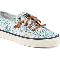 Sperry Top-Sider Women's Seacoast Canvas Sneaker in Fish Circle Blue STS95229