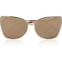 Cutler and Gross - D-frame rose gold-plated mirrored sunglasses