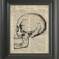 A Skull   - Printed on Love page  -  250Gram paper.